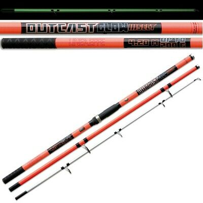 14ft 4.2m Outcast Glow Beachcaster Rod Beach Caster Sea Fishing Tackle Lineaeffe • 64.95£