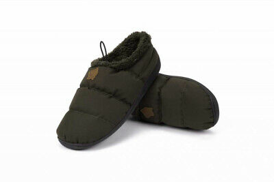 Nash Deluxe Bivvy Slippers New Design Green Carp Fishing Footwear All Sizes • 24.99£