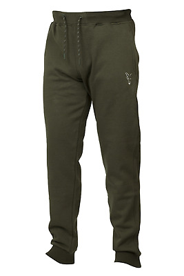 Fox Collection Green/Silver Joggers Carp Fishing Tracksuit Bottoms NEW • 29.99£