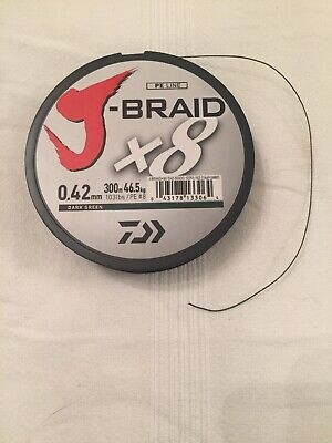 Daiwa J Braid X8 103lb Casting Leader 10m Length Sea Fishing • 2.99£