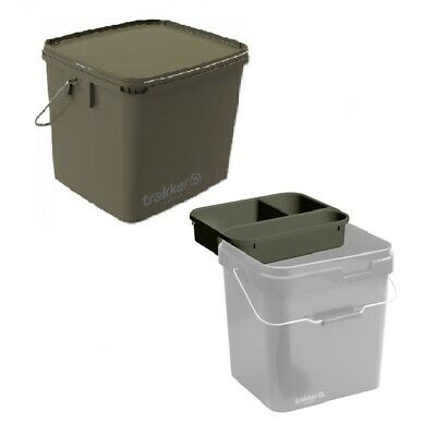 Trakker 17 Litre Green Square Bait Bucket + Cuvette NEW Fishing Bucket And Tray • 17.99£