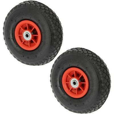 2 10   3.00-4 Spare INFLATABLE PNEUMATIC Wheels Carp Fishing Trolley Sack Truck • 31.05£