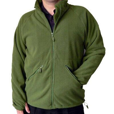 British Army Olive Green Full Zip Thermal Liner Fleece Jumper USED Grade1 • 15.99£