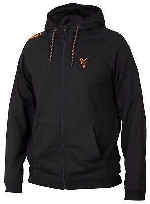 Fox Collection Black And Orange Lightweight Hoody *All Sizes* Fishing NEW • 24.99£