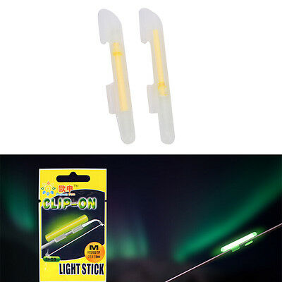 20x Fishing Lights Nights Fluorescent Glow Stick Lightstick Clips-on Rod 4si EH • 6.13£