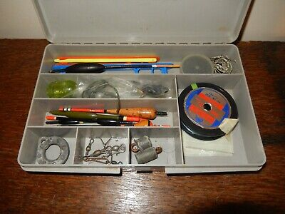 Retro /  Vintage Fishing Equipment Floats, Hooks, Weights In Box. Tackle • 10£