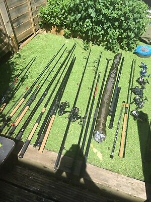 Coarse Pleasure Kit. Full Fishing Set Up Job Lot. Luggage/rods/reels/tackle Etc • 700£