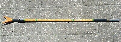 Adjustable Whole Cane Bank Stick. 33  To 50  Long. With Rod Rest. • 30£