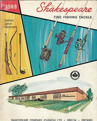Vintage 1969 Shakespeare (Canada) Fishing Tackle Guide • 14.95£