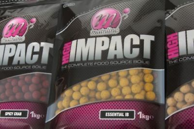 Mainline Baits NEW High Impact Shelf Life Boilies 15mm Or 20mm 1kg *All Flavours • 11.99£