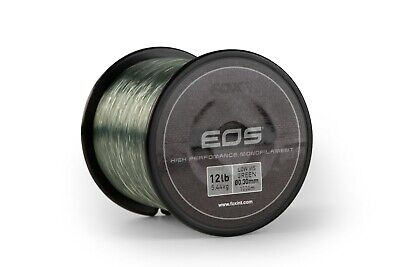 Fox Eos Mono Carp Fishing Main Line Low Vis Green 1000m Spool NEW • 9.99£