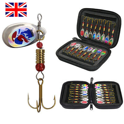 16PCS Fishing Lures Spinners Baits Hooks Trout Bass Salmon Baits Tackle Crank UK • 9.99£