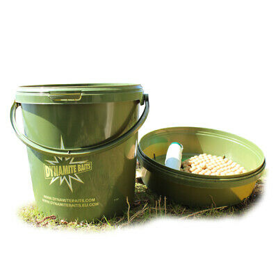 Dynamite Baits 10ltr Green Bait Bucket NEW Carp Fishing Bucket - DY501 • 12.99£