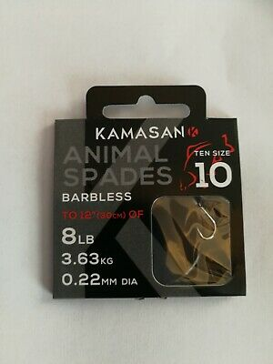 Kamasan Animal Spades Hooks To Nylon Barbed And Barbless • 2.75£