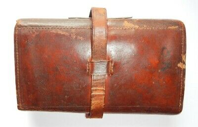 Vintage Leather Fly Wallet & Cast Holder 6 X 3.5 X 1.25  C.1890 • 40£