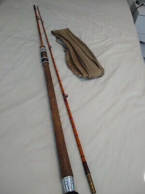 Owen Caudle Hand-Built Split Cane/Bamboo Salmon Spinning Rod 8'6''.**NO RESERVE* • 21£