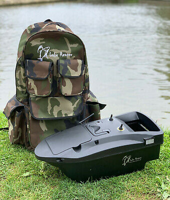 Brand New Carp Bait Boat Lake Reaper Bait Boat Rucksack Bag / Holder Large • 39.99£