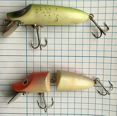 Fishing #46 - Vintage Pair Twin Treble Hook Spinning Plug/crank Bait Hook Minnow • 8.95£
