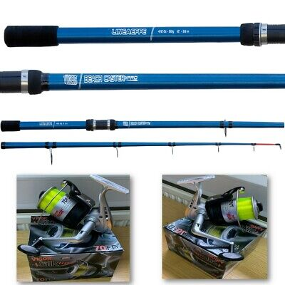 Lineaeffe Vigor 2 Beach Caster 12ft Sea Surf Beach Fishing Rod + Silk 70 Yellow  • 35.95£