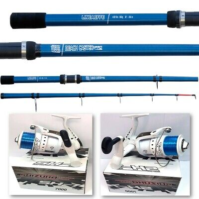 Lineaeffe Vigor 2 Beach Caster 12ft Sea Beach Fishing Rod + Shizuka 7000 Reel • 39.95£