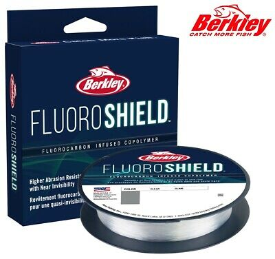 Berkley FluoroShield 300yd Fluorocarbon Infused Copolymer Fishing Line Clear NEW • 6.95£