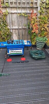 Shakespeare Seat Box, Carp Rods And Reels, Fishing Tackle Job Lot. • 70£
