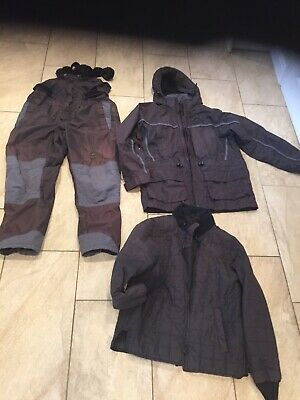 SUNDRIDGE DOUBLE TOP FISHING SUIT 3 Piece Size Small • 35£