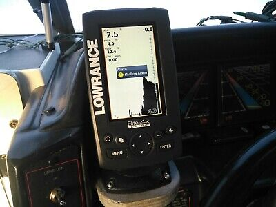 Lowrance Elite 4X Hdi With Chirp With Box And Instructions And Trolling Wheel • 95£