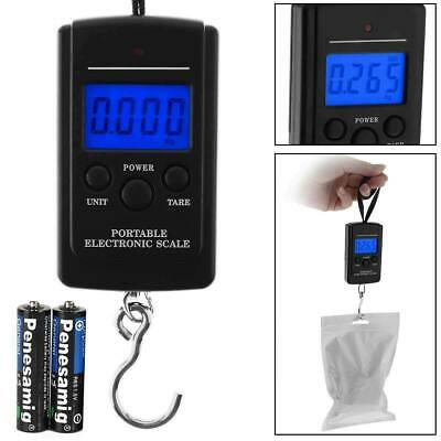 40kg Portable Digital Weighing Hanging Travel Scales Fishing Luggage + BATTERIES • 3.99£