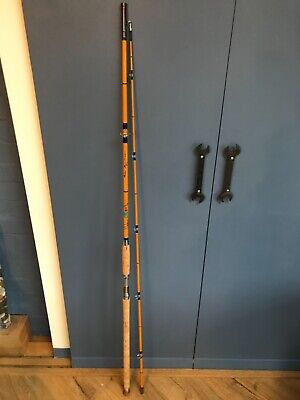 Henry W Aitken Superflex 10ft Cane Bass Rod. NOS • 35£