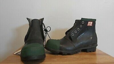 UniRoyal Century Rubber Safety Boots Wellies - Authentic Vintage 1987 NWT - UK 9 • 69.99£