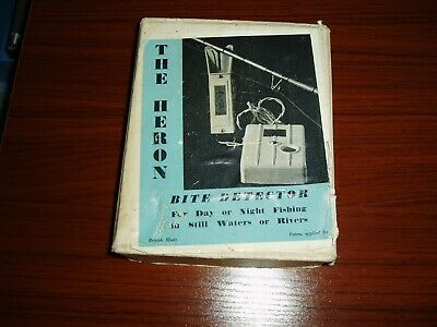 VINTAGE 1960s THE HERON BITE ALARM BOXED • 42£