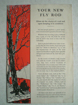 A Scarce Hardy Advertising Pamplet  Your New Fly Rod  • 24.99£