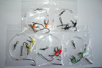 5 X 2 Hook Paternoster Flapper Rigs With Baitholders • 4.99£