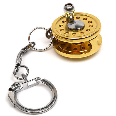 New Portable Fly Fishing Rod Reel Miniature Novelty Fishing Gift Tools Keychain • 5.99£