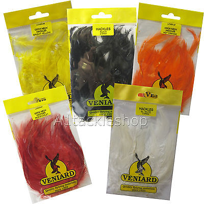 Veniard Large  Saddle Cock Hackles Feathers For Trout Fly Tying Craft And Hats  • 3.90£