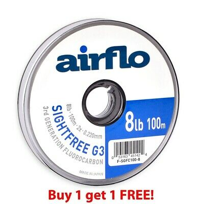 Airflo G3 Sightfree Flurocarbon 100m (Buy One Get One Free) ** 2020 Stocks *** • 19.99£
