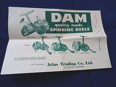 Scarce Vintage Dam Advertising Sheet Showing D.a.m Fishing Reels, Knots And Line • 9.99£