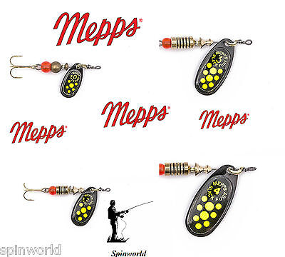 Mepps Black Fury Chartreuse VARIETY SIZES SPINNERS • 4.33£