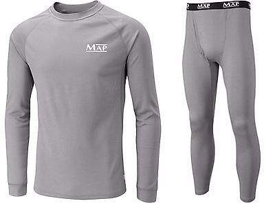 Map Base Grey Layer Top & Trouser Bottom Coarse Fishing Under Armor All Sizes  • 15.59£
