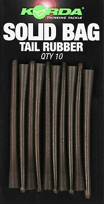 Korda Solid Bag Tail Rubber -Long Stem, Creates Strong Seal, 10 Per Pack • 5.49£