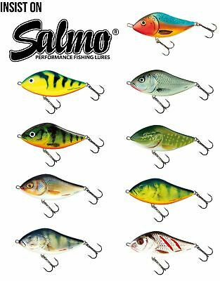 Salmo Slider Sinking Jerkbait / Pike Perch Lure Plug • 11.49£