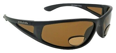 PowerStriker Sunglasses Polarized Brown UV400 Lenses With Bifocal+2.50 Insets • 14.85£