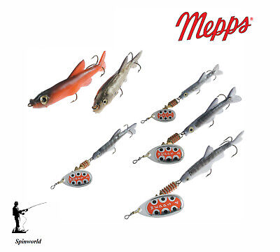 Mepps TW Minno Silver Variety Sizes Red Or & Silver Fish 1st Class Post • 6.80£