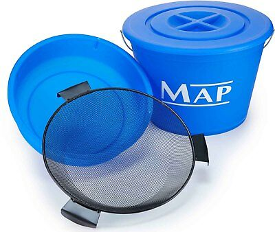 Map New 25L Ground Bait Match Fishing Bucket, Bowl And Riddle Set • 36.70£