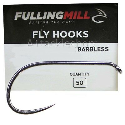 Fulling Mill 35050 Ultimate Dry Barbless Fly Tying Hooks • 7.99£