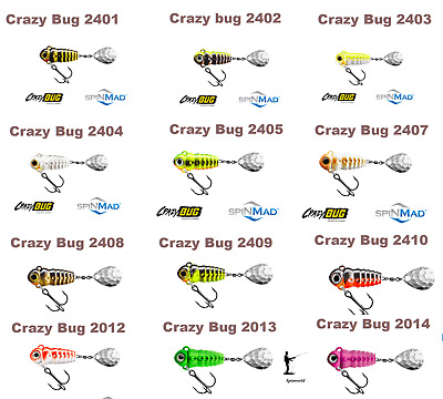 Spinmad CRAZY BUG 4g.  30mm. Tail Spinner  1st Class Post • 5.60£