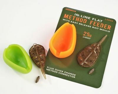 Drennan In-line Flat Method Feeder And Method Feeder Kits All Sizes In Stock • 7.49£