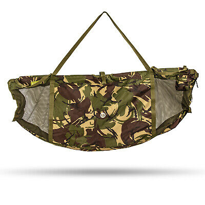 Saber Floating Weigh Sling Camo Carp Fishing Floatation DPM Bag Retention Fish • 39.99£