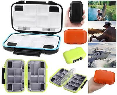 CONTAINER COMPACT WATERPROOF From Fishing To 12 COMPARTMENTS AMI LURES SWIVELS • 13.77£